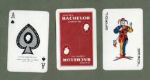 Playing cards Vintage Advertising Players Bachelor cigarettes #081a